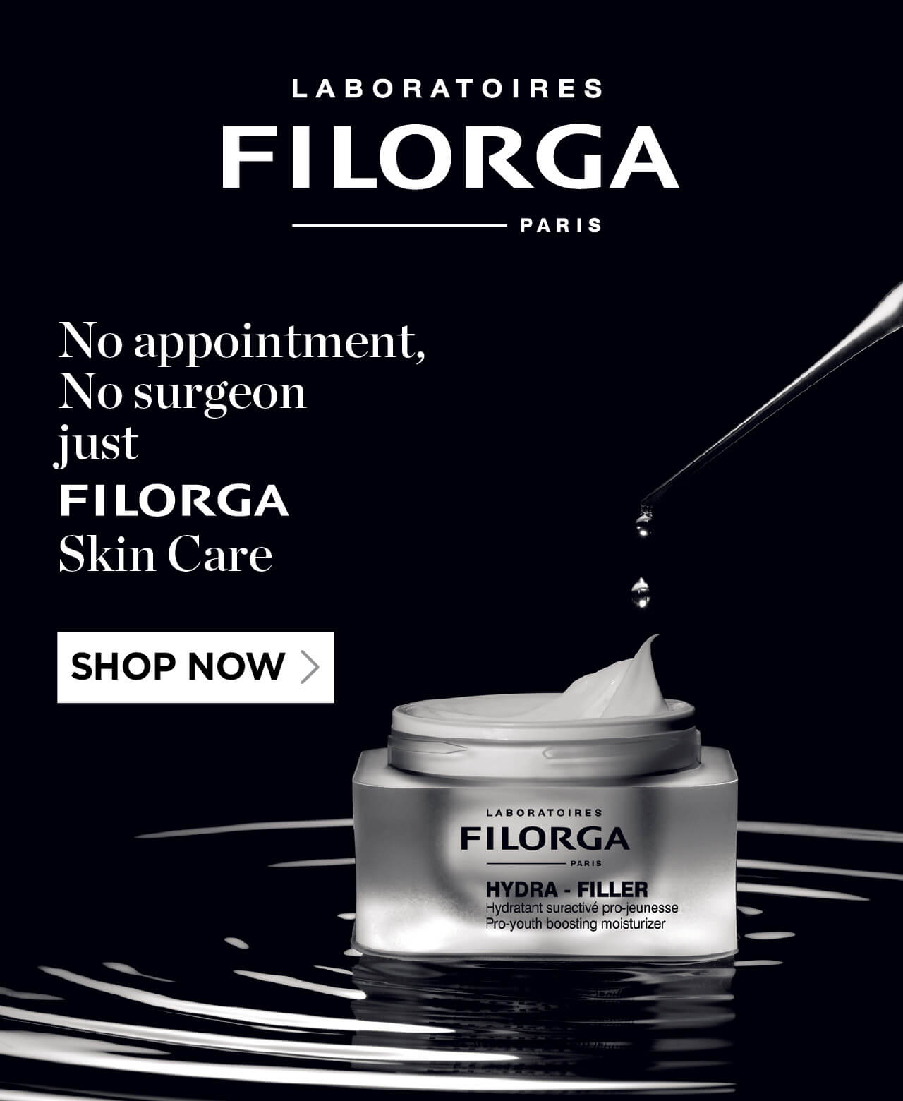 No appointment, No surgeon just FILORGA Skin Care