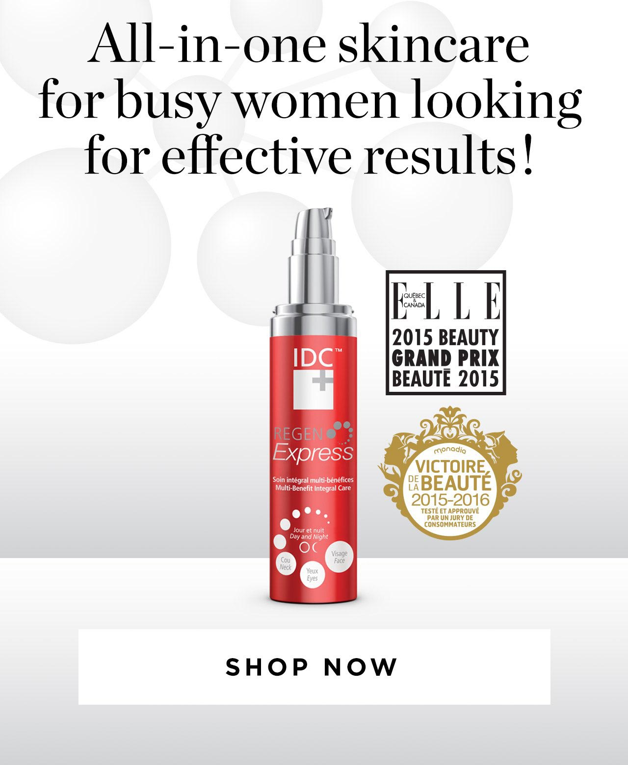 All-in-one skincare for busy women looking for effective results!