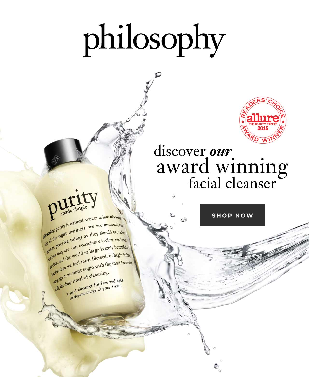 philosophy discover our award winning facial cleanser