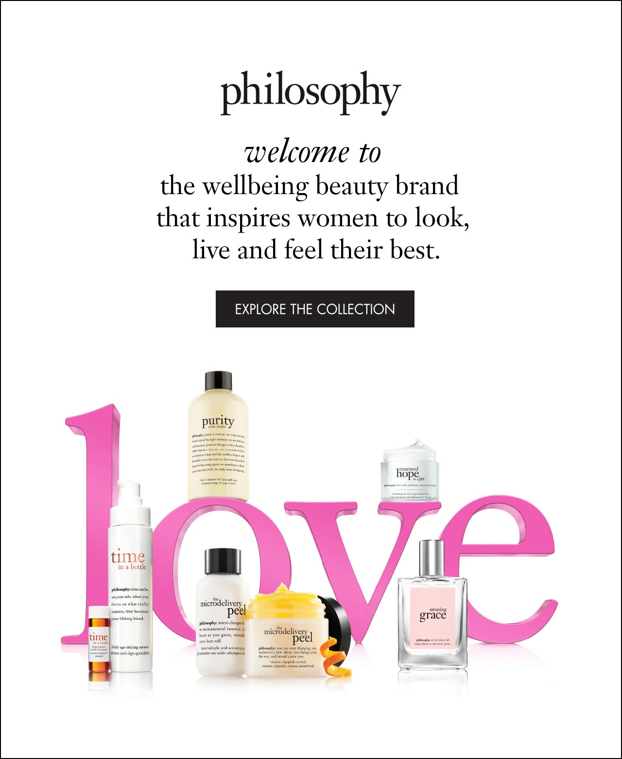 philosophy welcome to the wellbeing beauty brand that inspires women to look, live and feel their best.