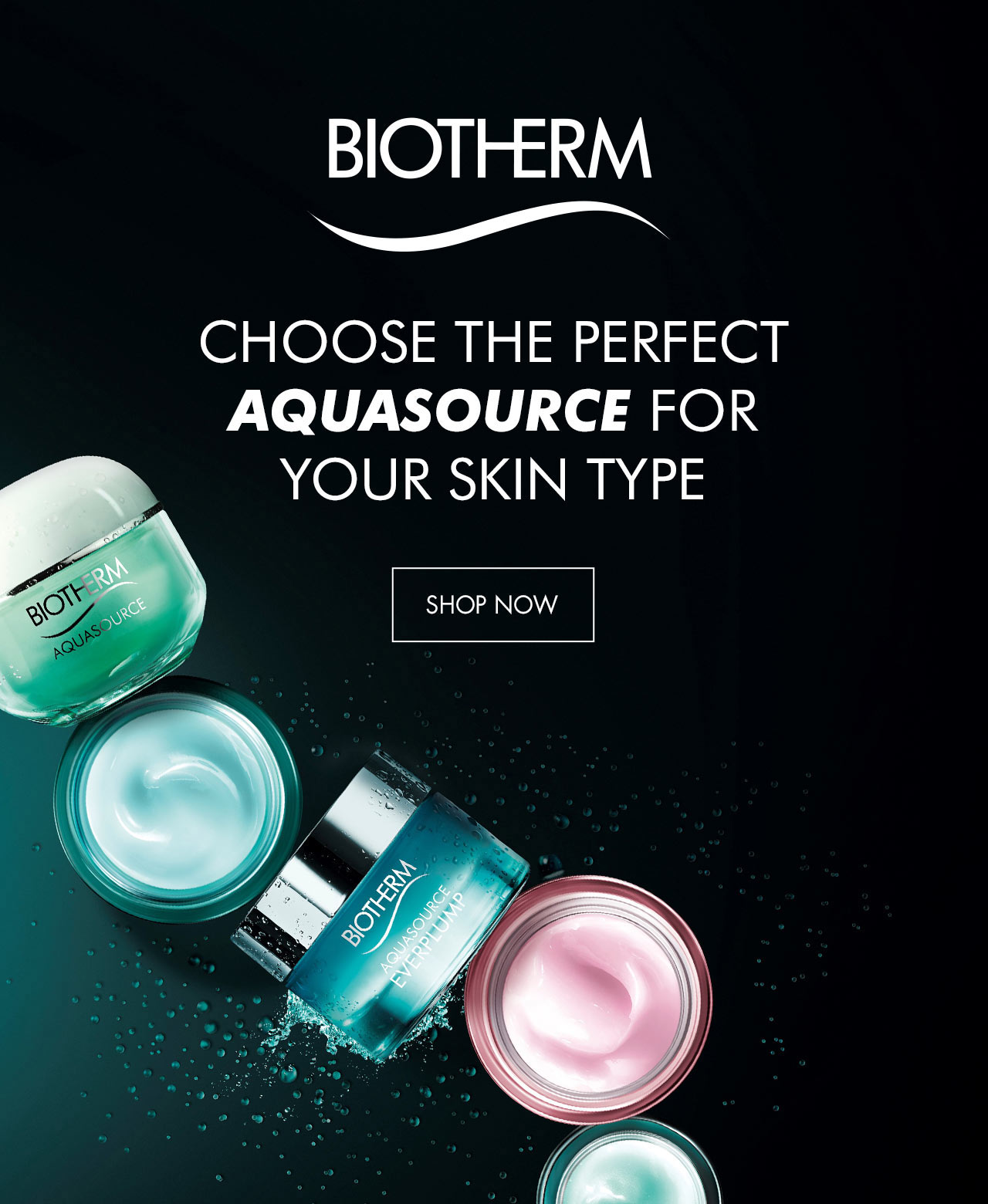 Biotherm Choose the perfect aquasource for your skin type