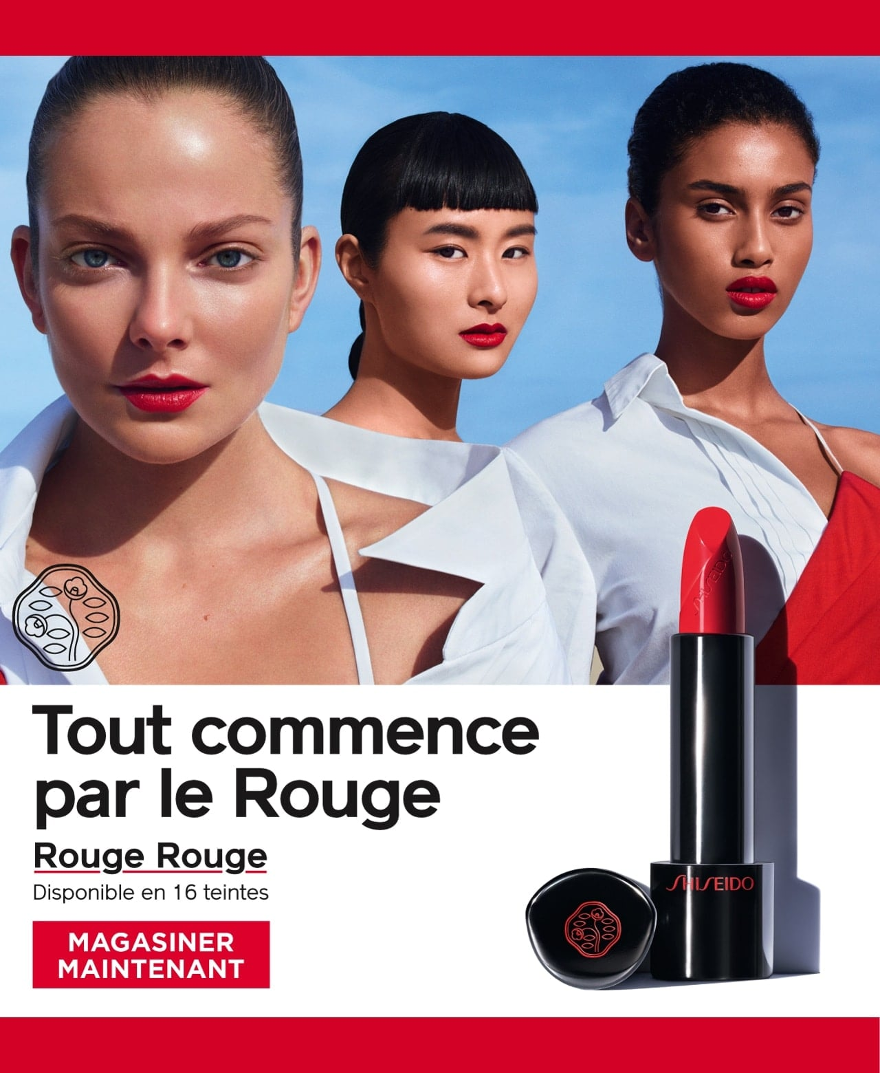 Shop Shiseido Rouge Rouge. Red is the first colour