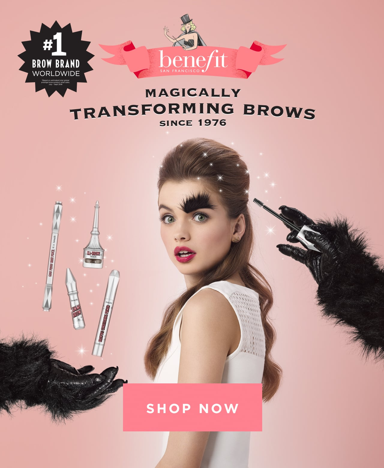 Benefit - #1 Brow Brand worldwide. Shop Benefit Magically Transform Brows