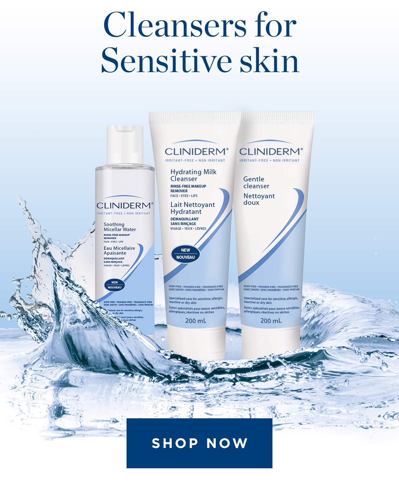 Cleansers for Sensitive Skin Shop Now
