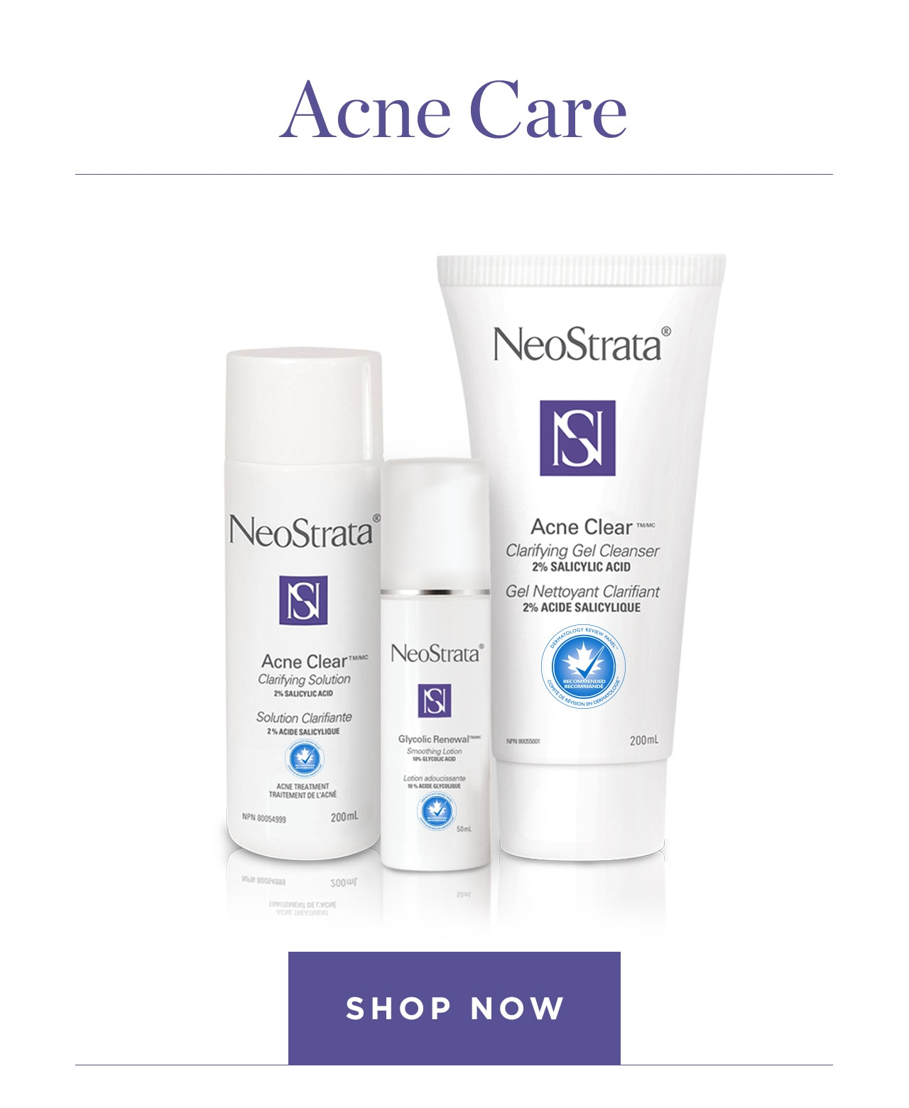Acne Care Shop Now