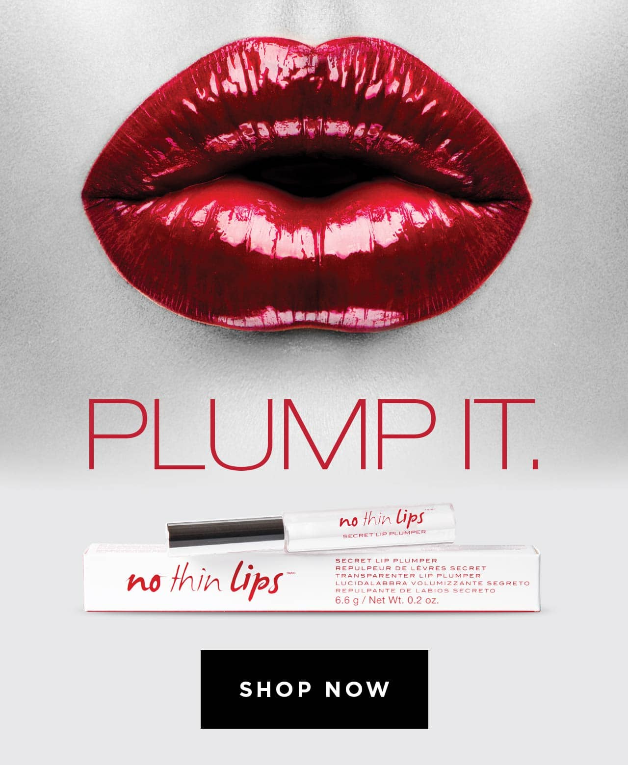 Plump it. Colourless lip plumper that instantly plumps lips for a full lip look