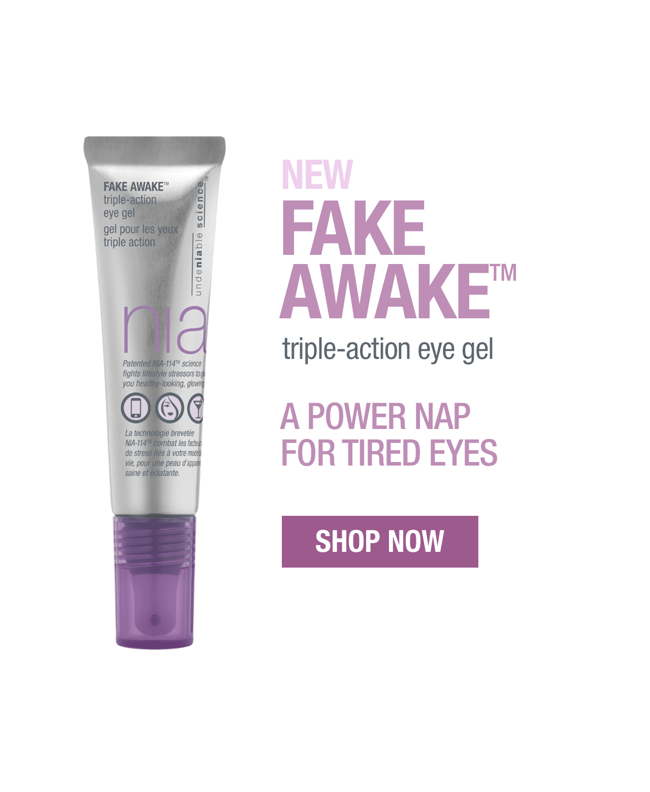 New fake awake triple action eye gel