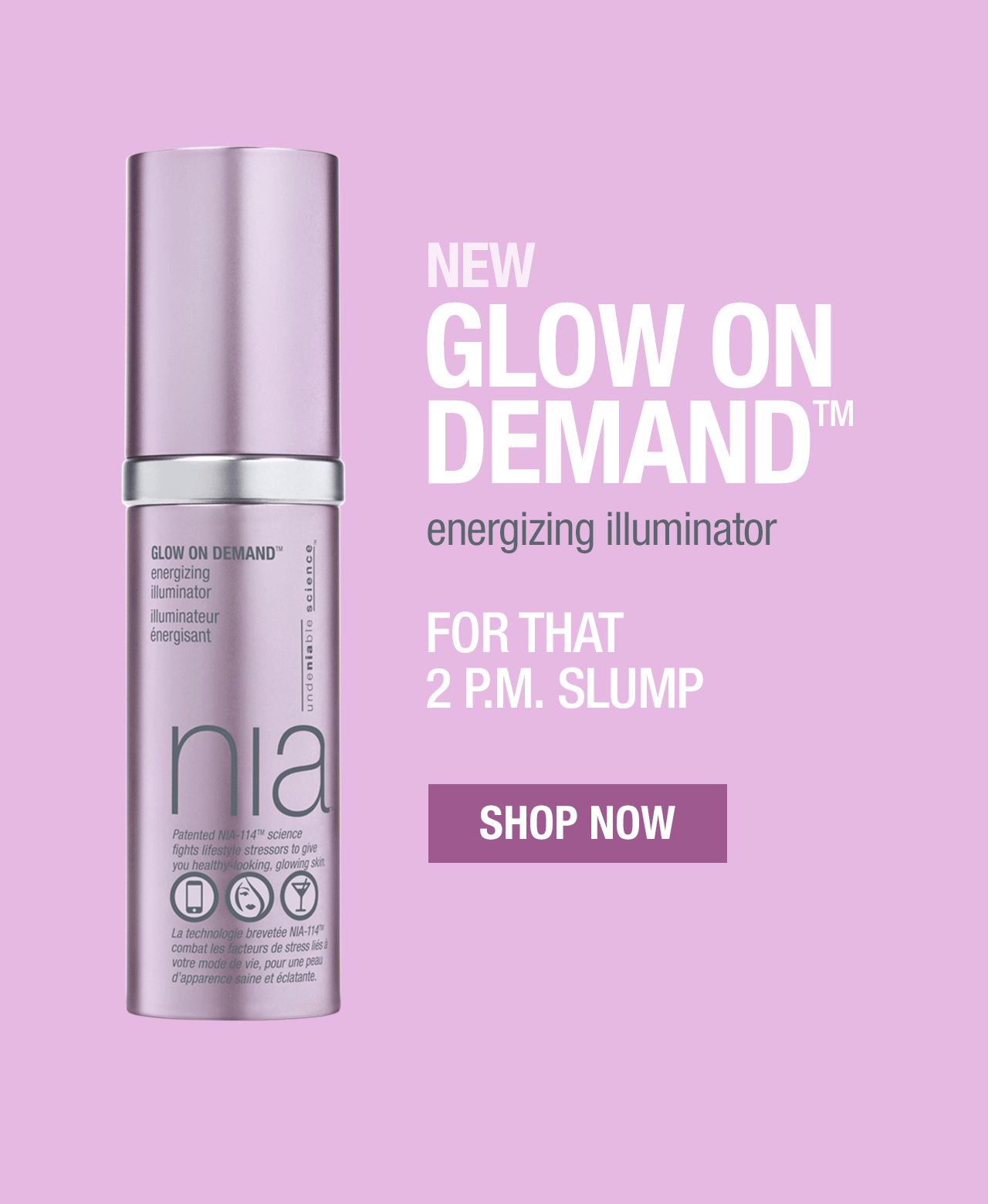 New glow on demand energizing illuminator