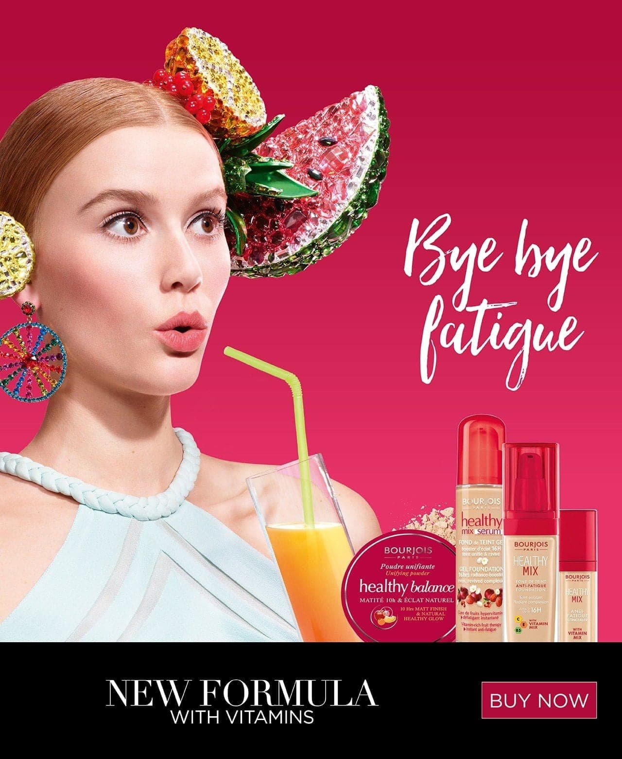 Bourjois Healthy Mix bye bye fatigue. New formula with vitamins