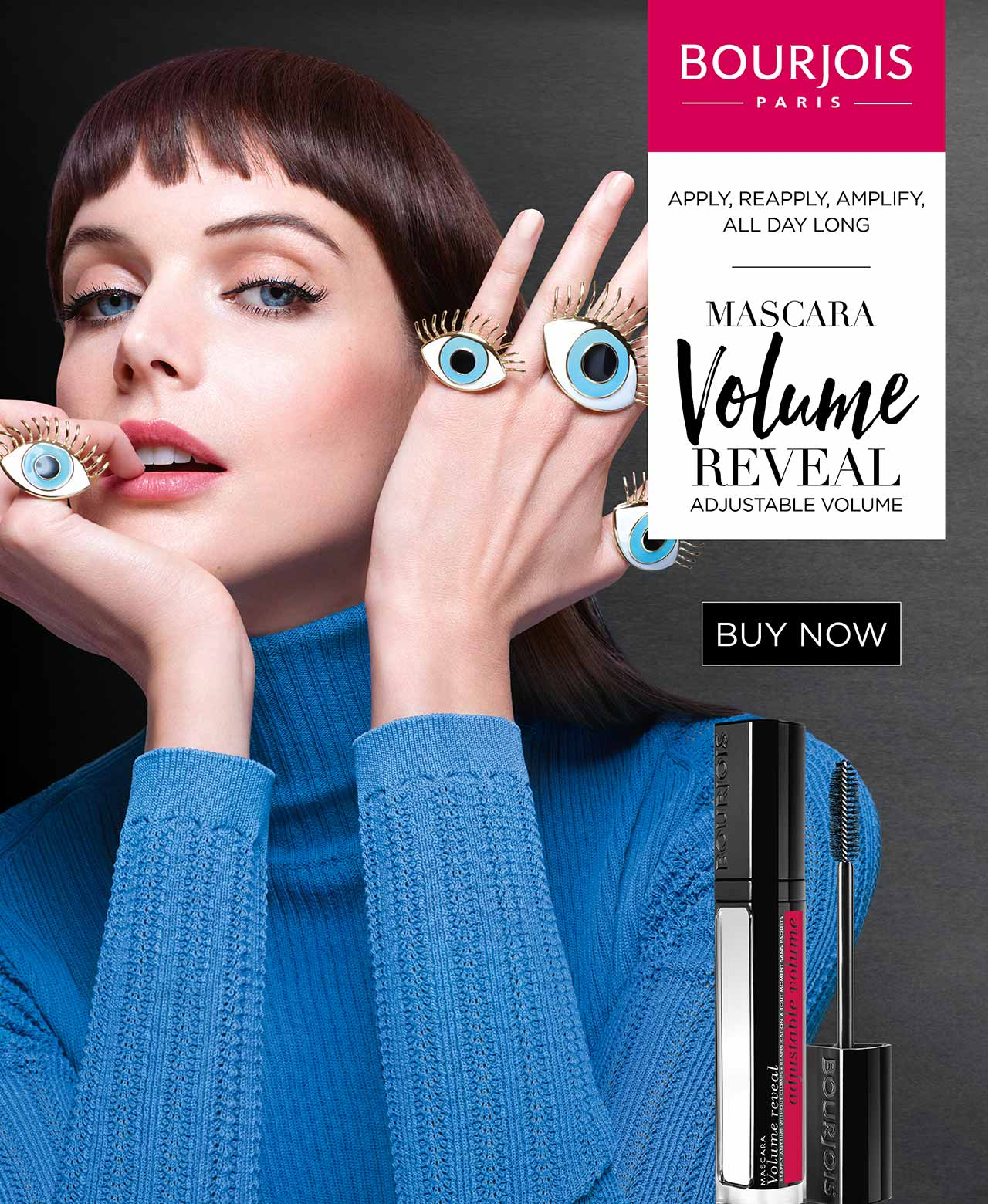 Bourjois Mascara Volume Reveal Adjustable Volume.