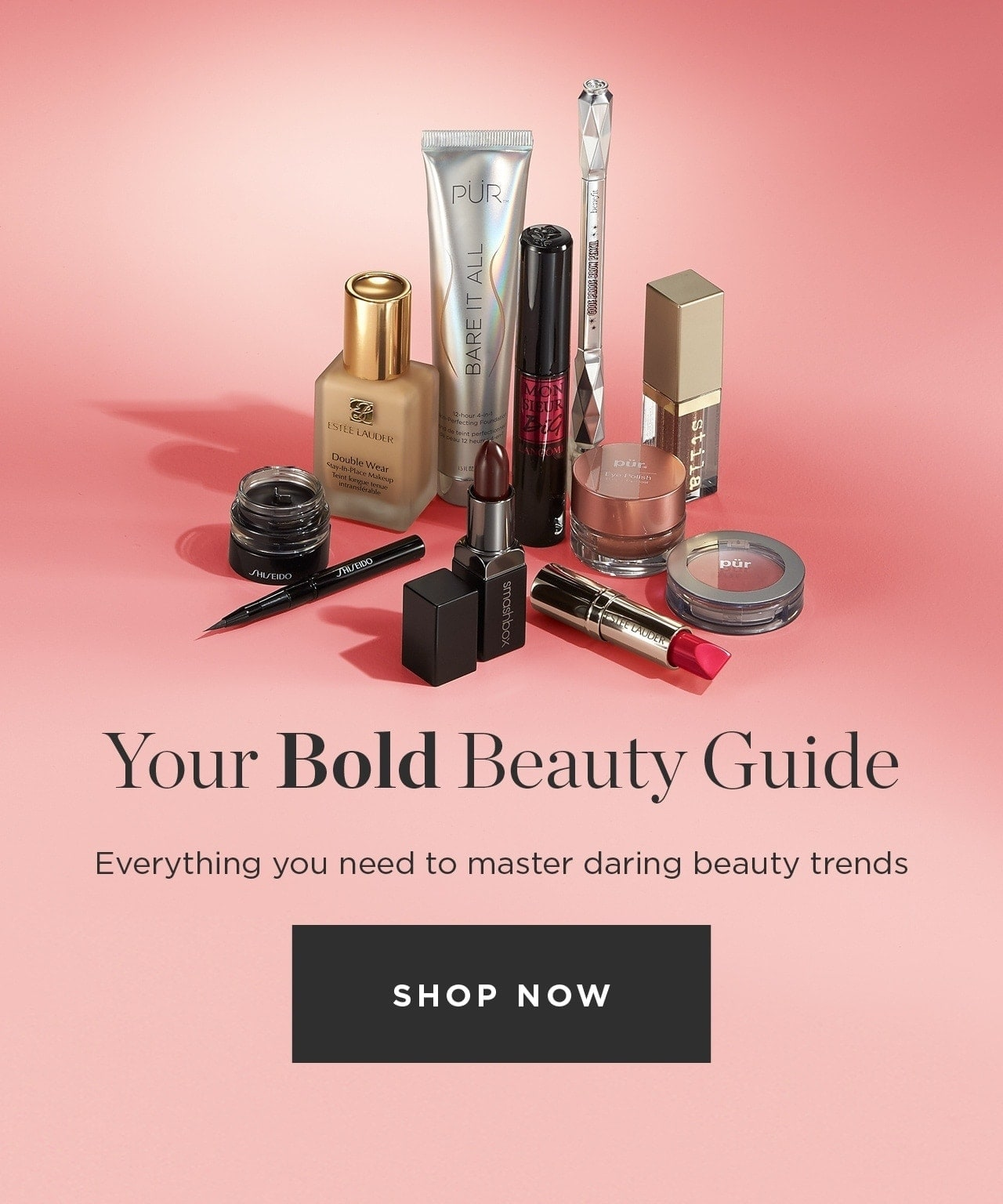 Your bold beauty guide. Everything you need to master daring beauty trends