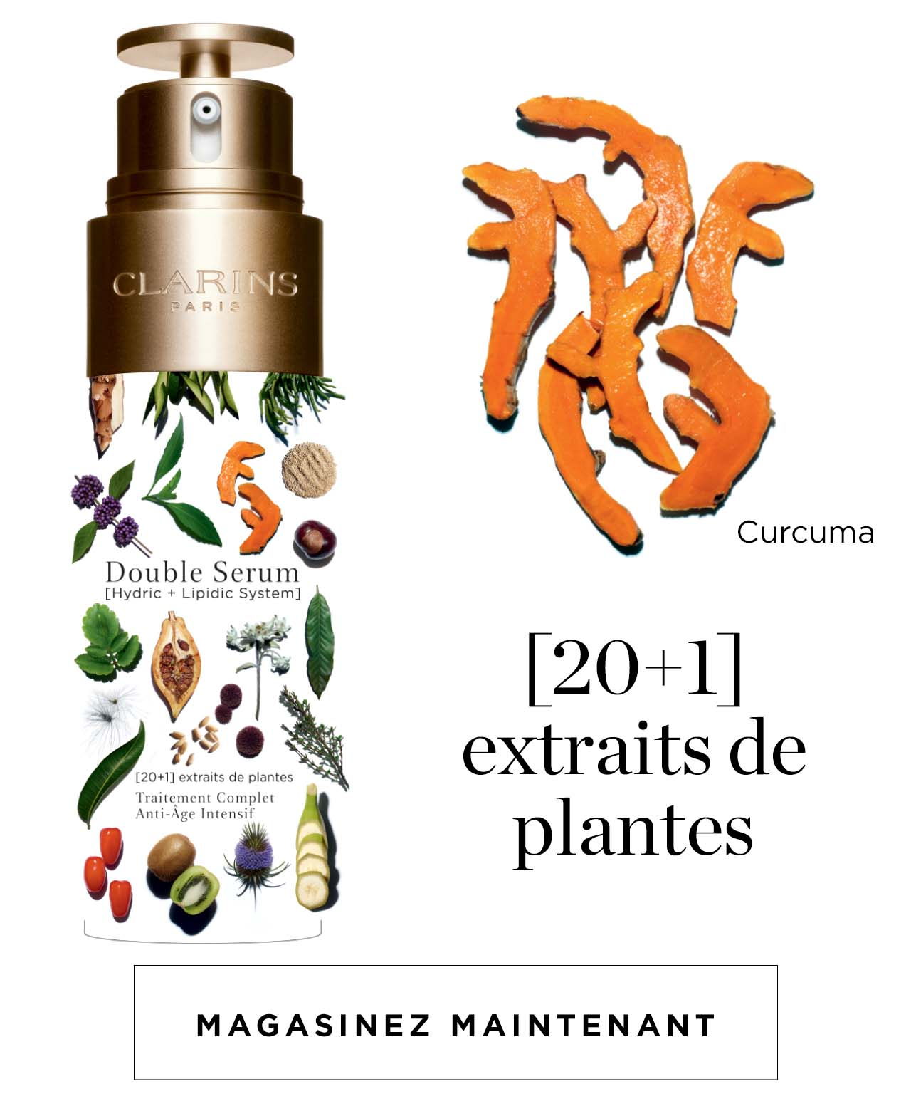 Double Serum extraits de plantes
