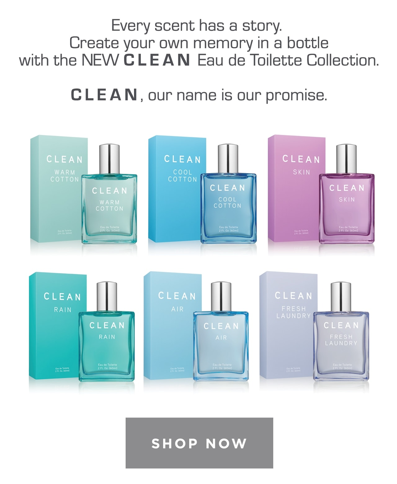 Clean Eau de Toilette Collection