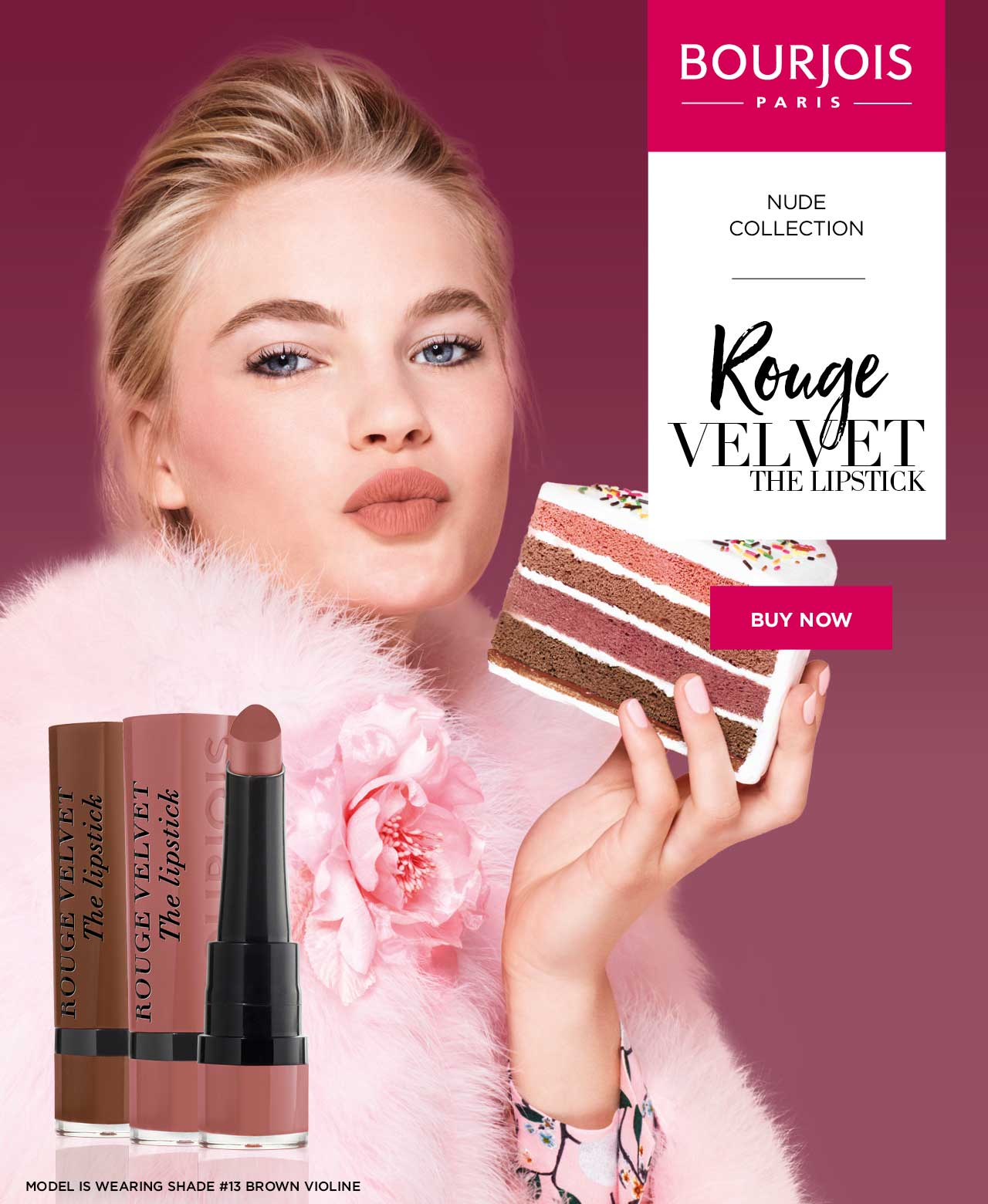 Bourjois Rouge Velvet the Lipstick. Shop Now