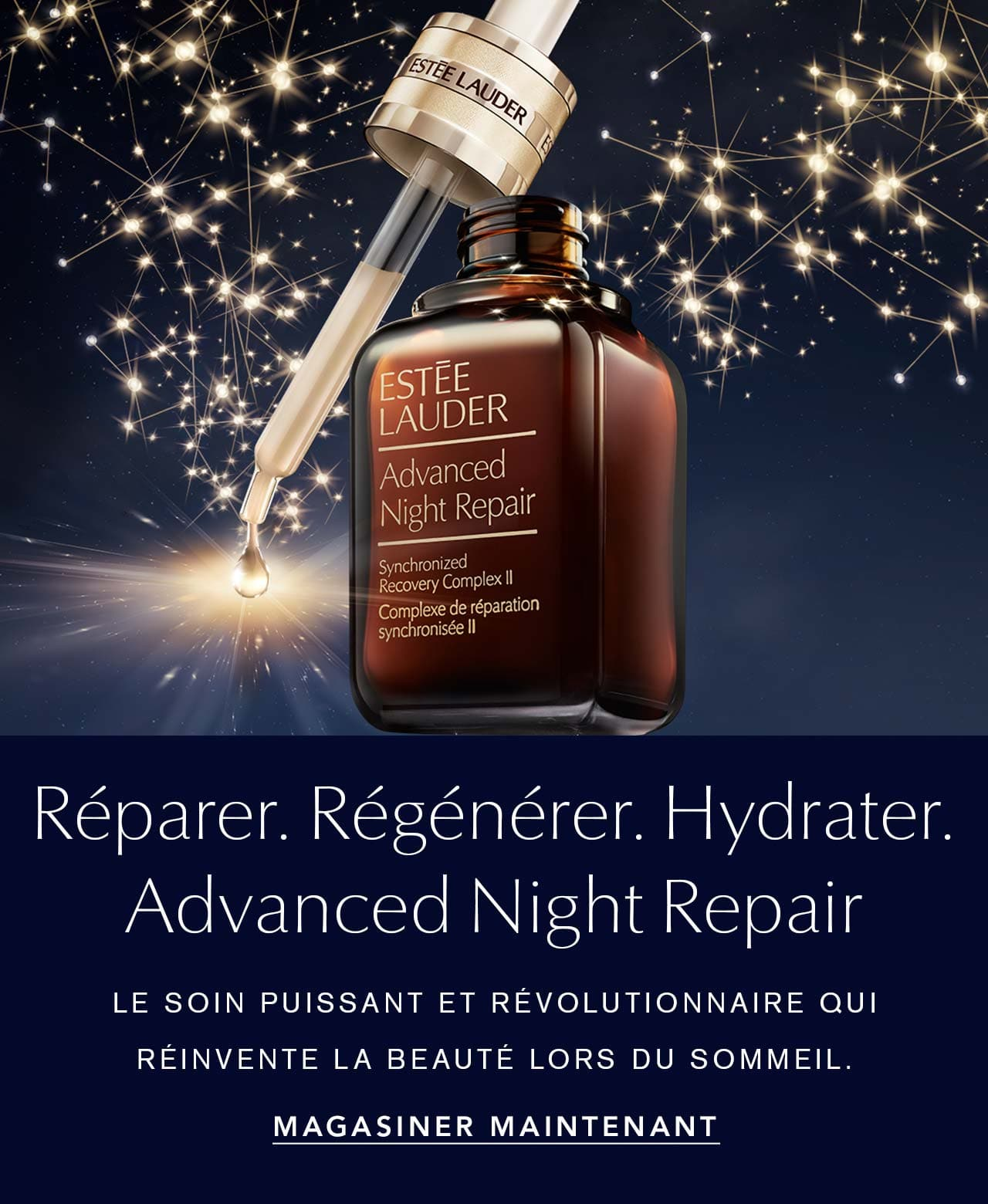 Advanced Night Repair. The revolutionary power signal that reinvents beauty sleep