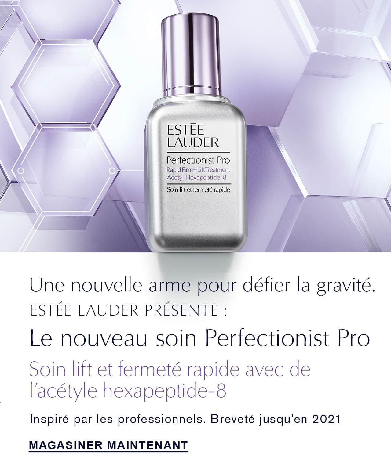 Estee Lauder invents new perfectionist pro rapid firm + lift treatment with acetyl hexapeptide-8
