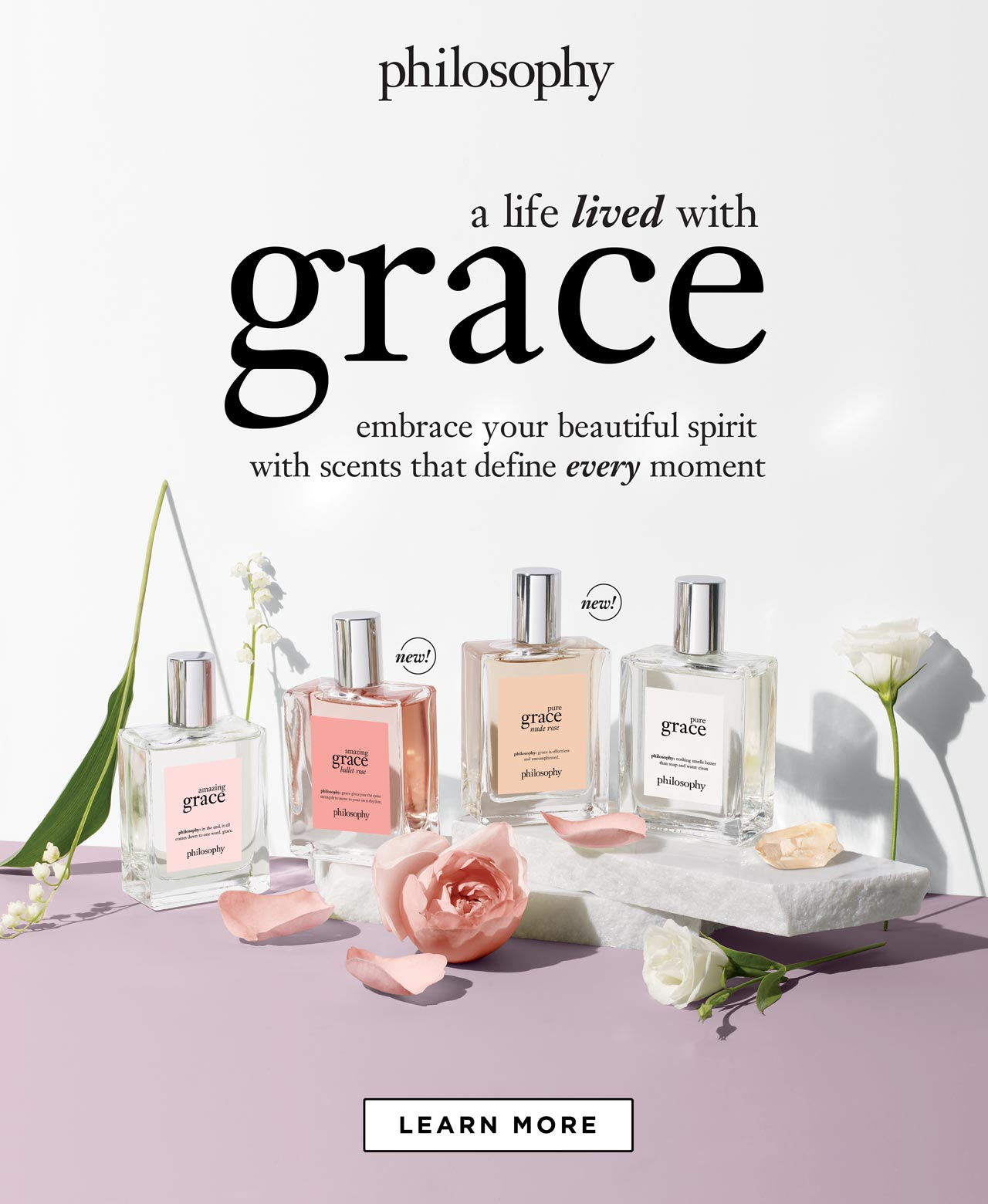 Philosophy Grace. Embrace your beautiful spirit with scents that define every moment. Shop now