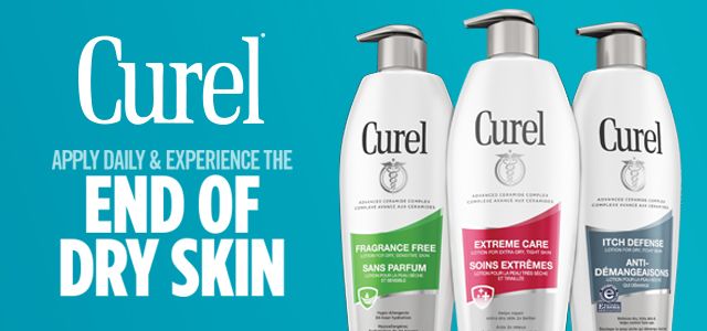 Curel - apply daily and experience the end of dry skin