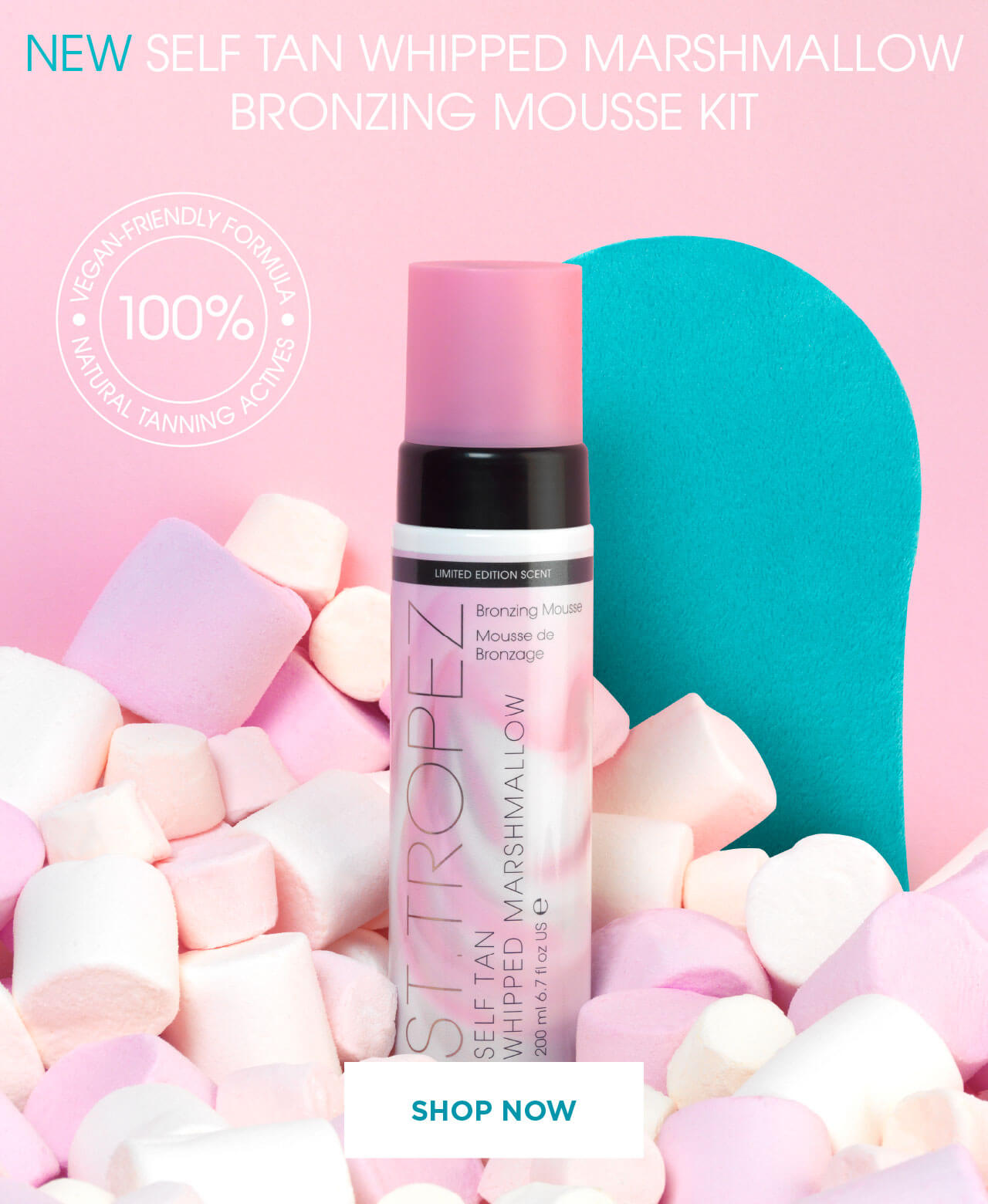 Self tan whipped marshmallow bronzing mousse kit. Shop now