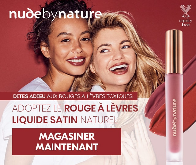 Nude by Nature liquide satin naturel. Magasiner maintenant