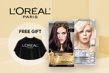 Free colouring cape on L'Oréal Paris colouration purchases $30+