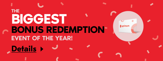 The biggest bonus redemption event of the year